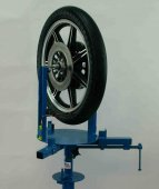 Wikco BMC112 Motorcycle Wheel Balancer With Tire,Mounted On Wikco MC110.100 Motorcycle Tire Changer